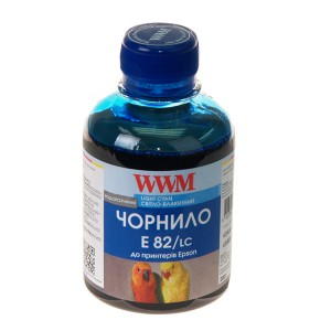 Чернила Epson T081, WWM, 200 г., light cyan, (E82/LC)